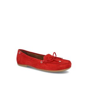 Fraiche nubuk Klasická nazúvacia obuv červená