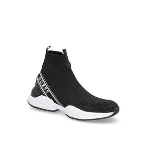 GUESS textil Športová nazúvacia obuv čierna