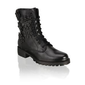 Kate Gray hladká koža snurovacia obuv čierna