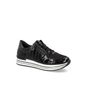 Remonte kombinácia s kožou Šnurovacia obuv čierna