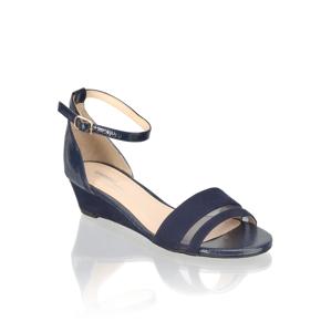 SEVEN EAST textil Klasické sandále modrá