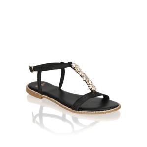 Minozzi hladká koža Klasická nazúvacia obuv čierna