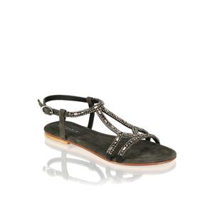 Lazzarini kombinácia s kožou Klasické sandále čierna