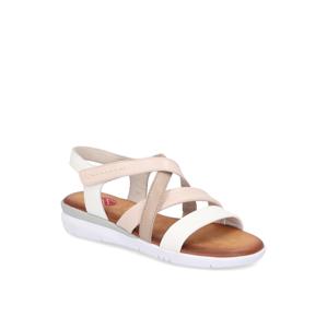 Vabene hladká koža Klasické sandále biela