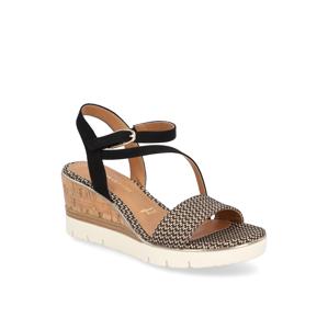 TAMARIS textil Sandále čierna