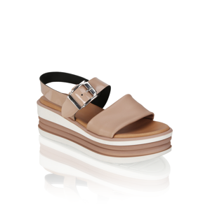 Kate Gray Kombinacija usnja sandali ružová