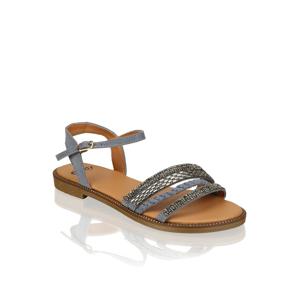 OMG! textil Klasické sandále modrá