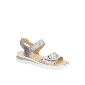 Ara kombinácia s kožou Sandále šedá