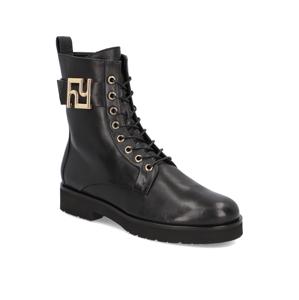 Högl hladká koža snurovacia obuv čierna