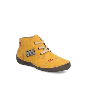 Rieker snurovacia obuv žltá