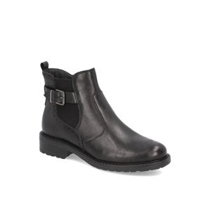 Pat Calvin hladká koža chelsea boots čierna
