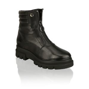 Kate Gray hladká koža členková obuv čierna