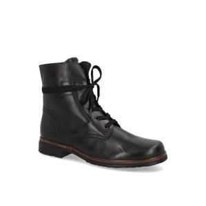 Gabor hladká koža snurovacia obuv čierna
