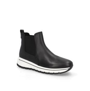 Gabor hladká koža chelsea boots čierna