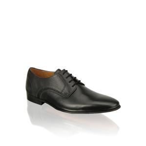 Pat Calvin koža Elegantná šnurovacia obuv čierna