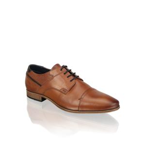 Pat Calvin koža Elegantná šnurovacia obuv hnedá