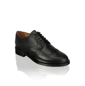 Kalman & Kalman šnurovacia topánka čierna