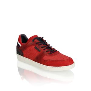 Frank Walker kombinácia s kožou tenisky červená