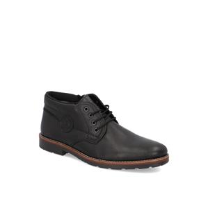 Rieker hladká koža členková obuv čierna