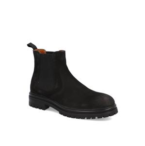 Pat Calvin nubuk chelsea boots čierna