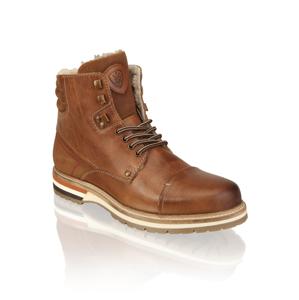 Frank Walker kombinácia s kožou členková obuv hnedá