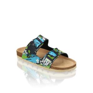 Natura pantofle s měkkou stélkou modrá