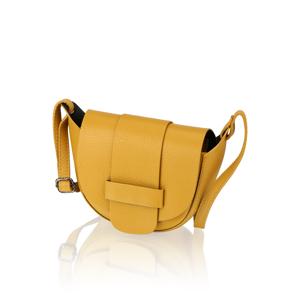 Lazzarini hladká koža malá taška žltá