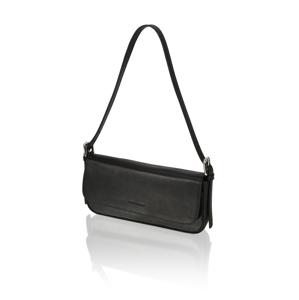 Lazzarini hladká koža večerná taška čierna