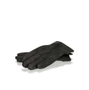Pat Calvin hladká koža rukavice čierna