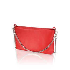 Lazzarini hladká koža večerná taška červená