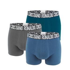 CRISTIANO RONALDO CR7 - 3PACK dark color boxerky s logom RONALDO z organickej bavlny-M (81-86 cm)