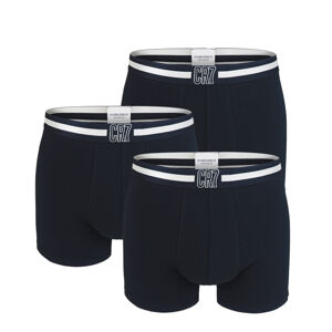 CRISTIANO RONALDO CR7 - 3PACK čierne boxerky s logom CR7 z organickej bavlny-XL (92-97 cm)