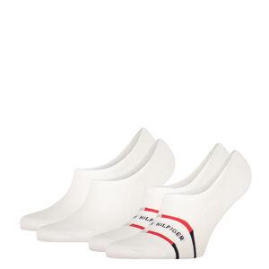 TOMMY HILFIGER - 2PACK breton stripe biele neviditeľné ponožky-43-46