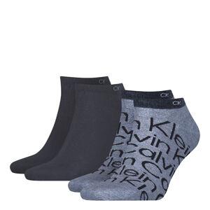 CALVIN KLEIN - 2PACK big logo pánske denim členkové ponožky CK-39-42