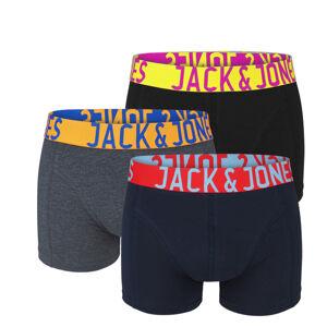 JACK & JONES - 3PACK color boxerky z organickej bavlny s farebným pásom-XL (92-97 cm)