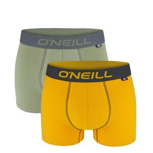 O'NEILL - 2PACK army green & gold boxerky z organickej bavlny-M (82-88 cm)
